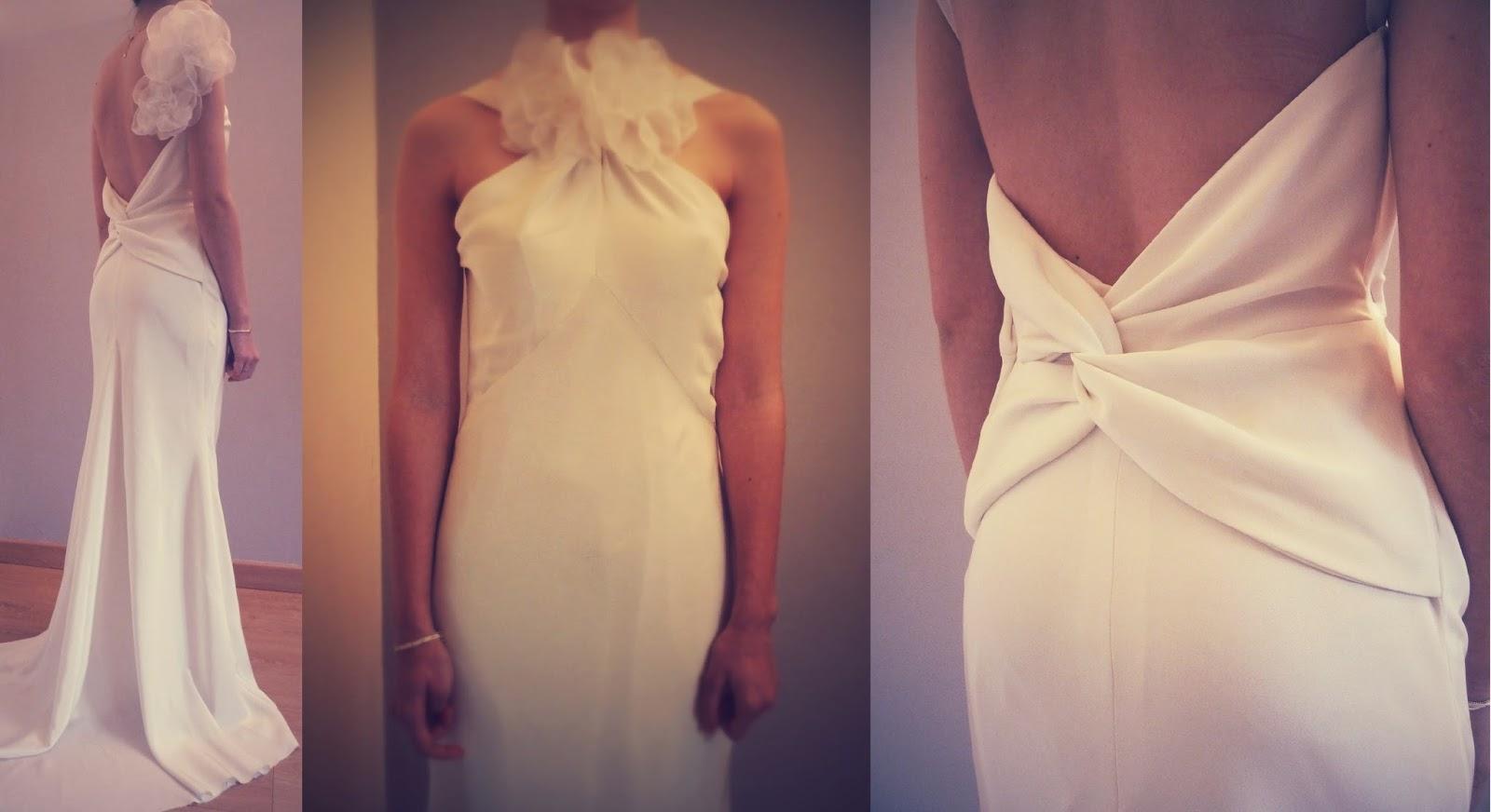 robe de mariée en biais par couturière à Versailles