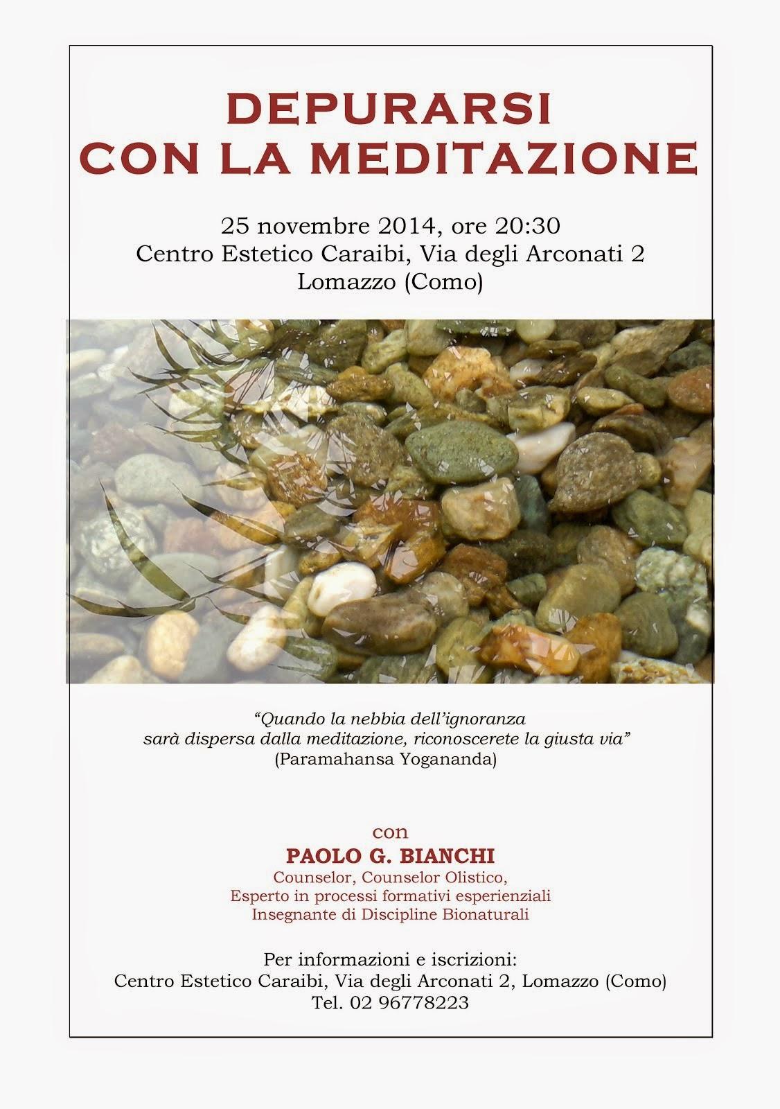EVENTI: MEDITAZIONE A LOMAZZO (CO)