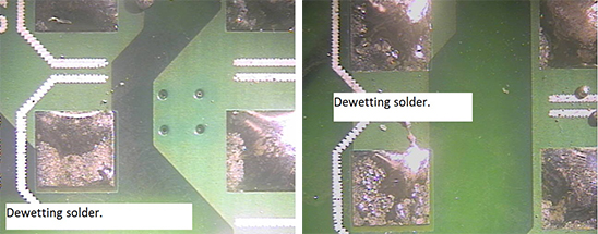 solder dewetting Gallery