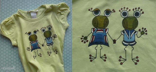 malované oblečení pro děti