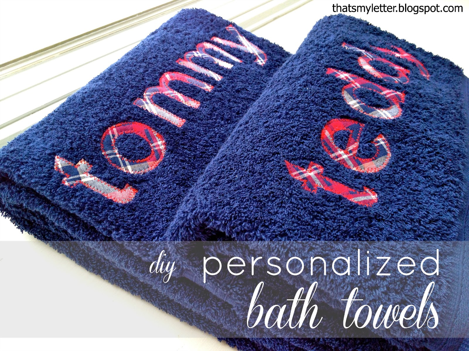 That S My Letter Diy Personalized Bath Towels