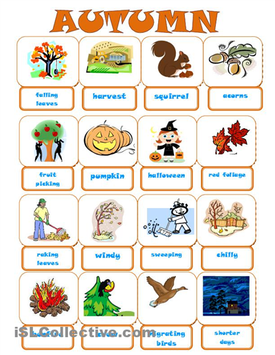 Autumn Vocabulary3