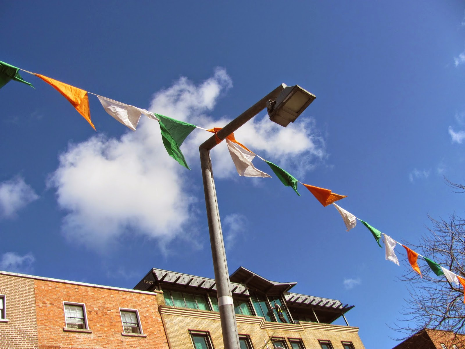 Irish Tricolor Banners Going up in Dublin 2015