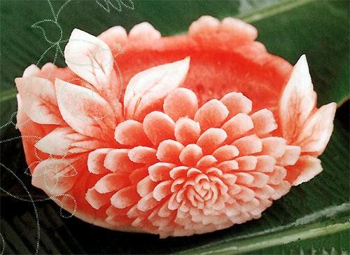 Chinese food week ncc vegetable carving atau fruit