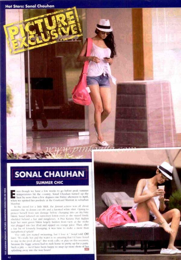 Sonal chauhan legs -  Sonal Chauhan OK! Magazine hot Bikini pics