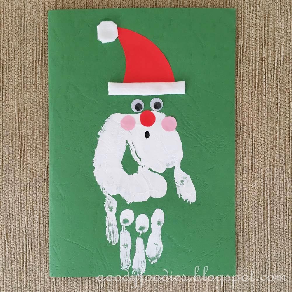 Goodyfoodies Christmas Crafts Handmade Santa Claus Christmas Cards
