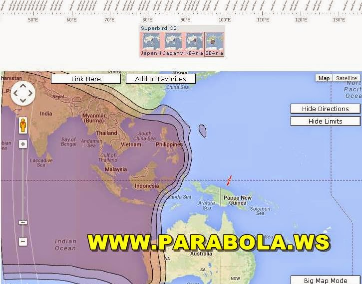 satelit parabola beam Indonesia superbird c2 ku band