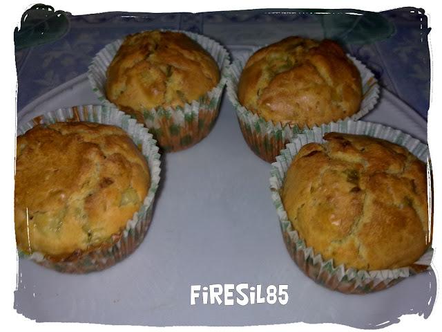 muffin con peperoni cipolla e olive