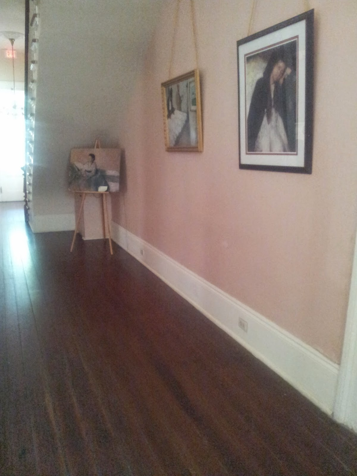 Hallway, paintings in Degas House, New Orleans
