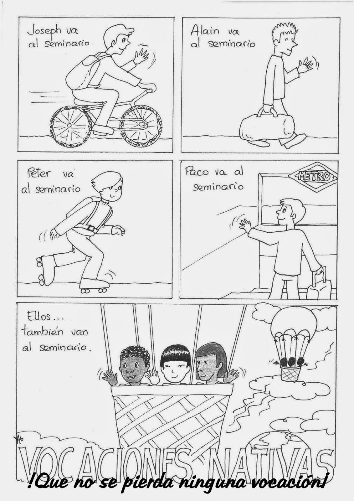 Comic de Vocaciones Nativas ~ Guadalajara Misionera