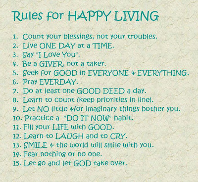 Rules for Happy Living