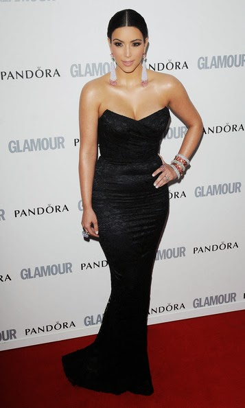 kim kardashian black mermaid evening dress