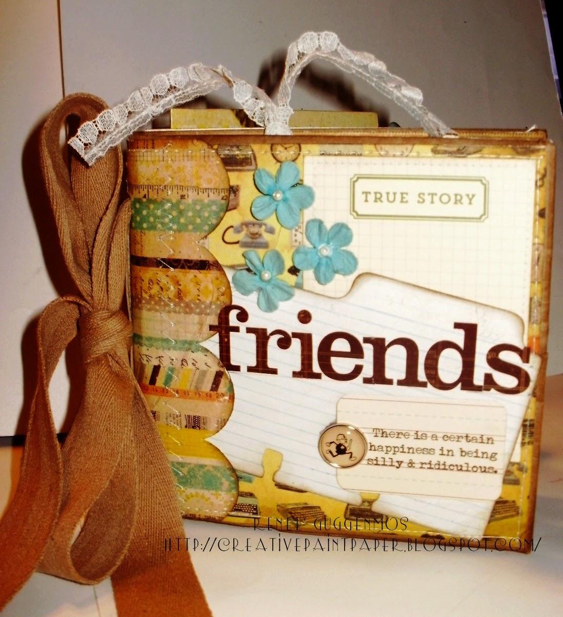 How to make scrapbook creative - New Etsy Listing Friends Paper Bag Scrapbook Album