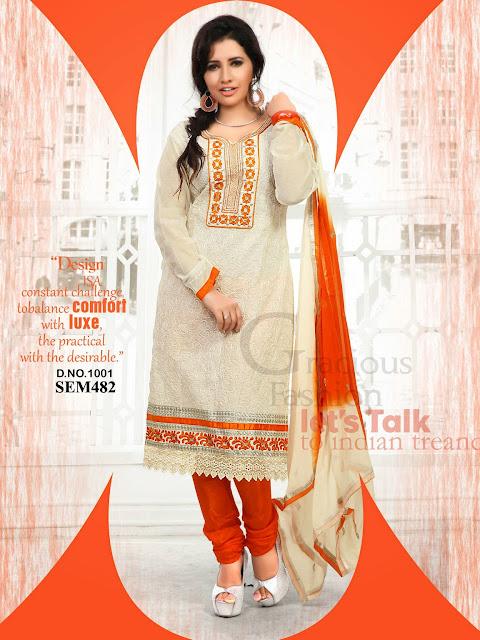 Latest Chanderi Cotton Long Salwar Kameez – Supplier