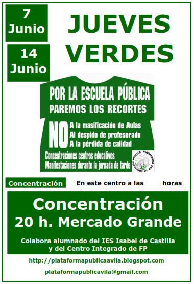 Plataforma por la Educación Pública de Ávila: Jueves ...