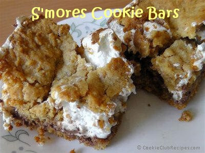 S'mores Cookie Bars Recipe by CookieClubRecipes