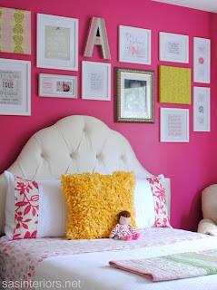 decorar quarto de menina pink