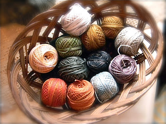 """Spring"" from Notforgotten Farm ~ designer Valdani thread collection"