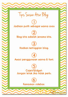 tips susun atur blog
