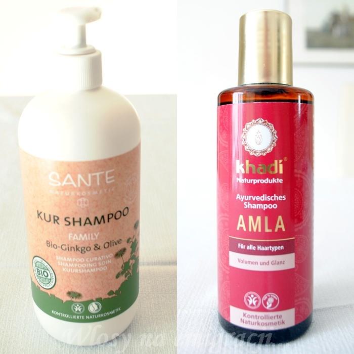 Szampon familijny Sante, szampon Khadi Amla.