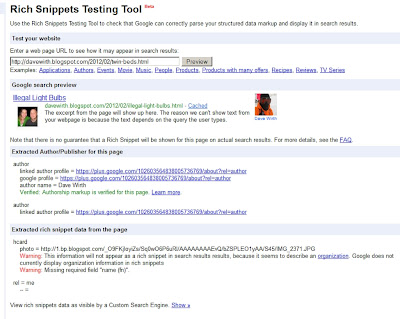 Rich Snippets wrong author image