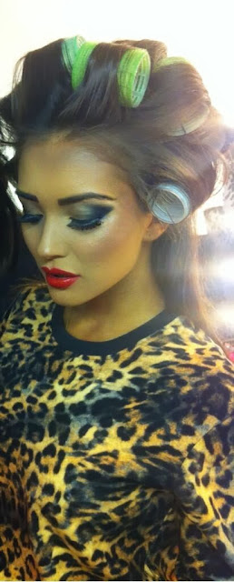 Amy Jackson on the sets of a shoot