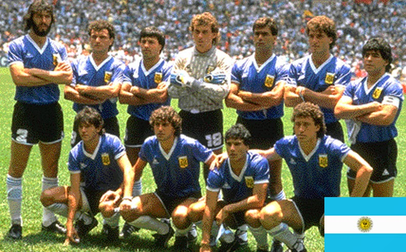 Finale de la coupe du Monde de Football 1986 Mexique