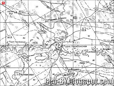 Карта 1978 года, СССР, фрагмент квадрата N35-77-2