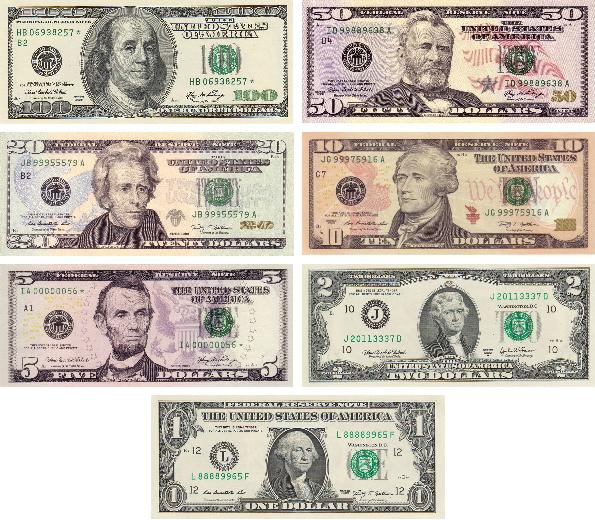 us paper money denominations