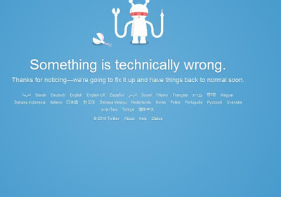 Twitter Is Down, I Repeat Twitter Is Down!