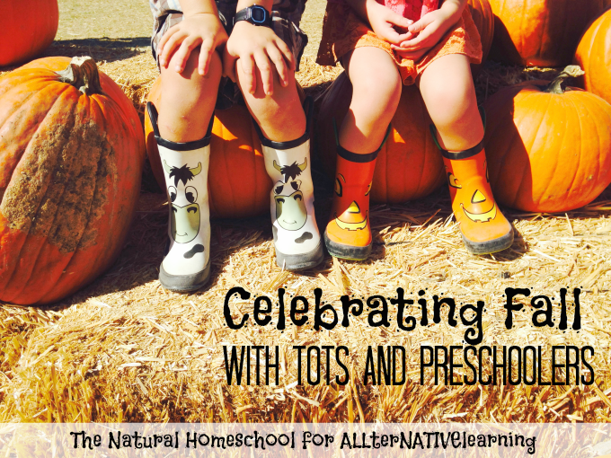 Learn about autumn and fall in tot school and preschool settings with a great bucket list of learning activities | ALLterNATIVElearning.com