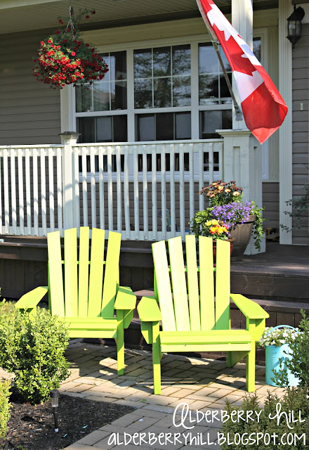 1 PM089 Im Lovin Lime Green Adirondack Chairs