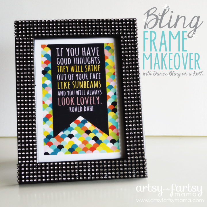 Frame Makeover with Darice Bling on a Roll