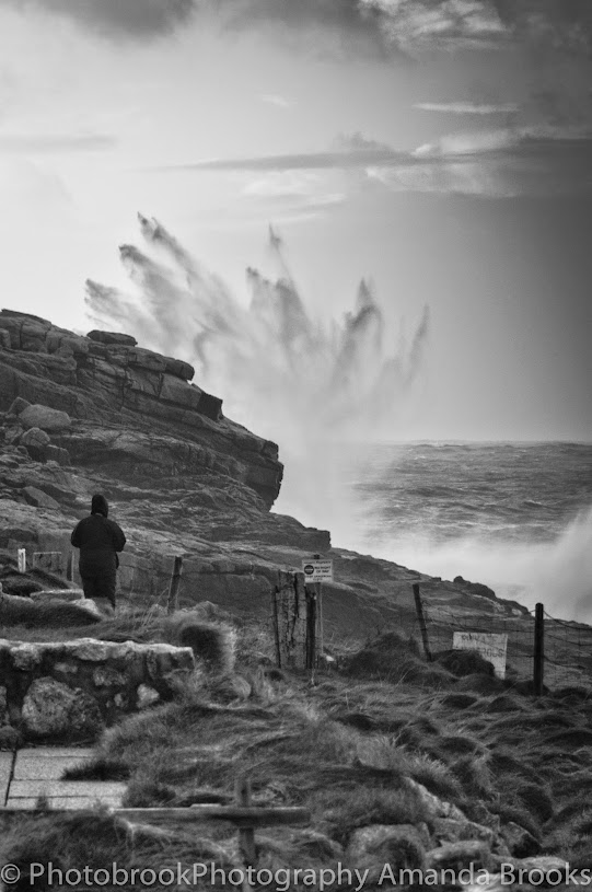 Giant waves in Sennen Cornwall