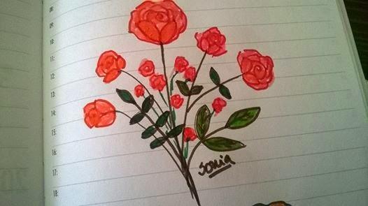 Imagenes Para Dibujar De Rosas - Dibujos de CORAZONES para colorear Ramo de corazon
