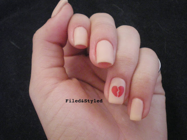 Broken Heart Nails