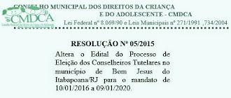 CMDCA/Conselho Tutelar - Inscrições até 12 de junho de 2015