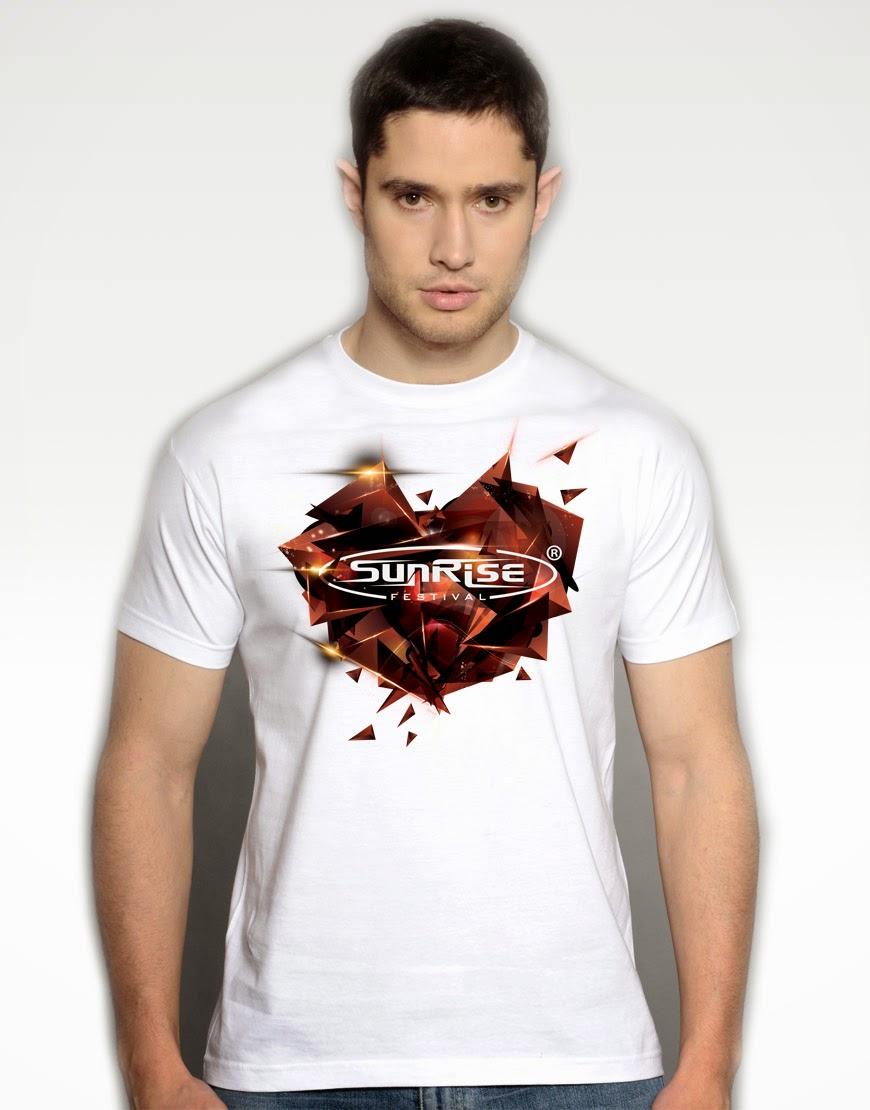 Sunrise - koszulka biała męska