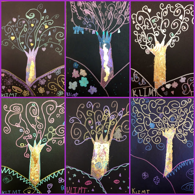 Klimt Tree Of Life Art Lesson edenfolwell: Ar...