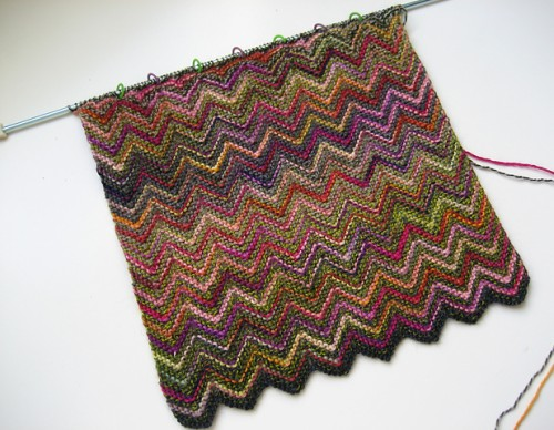 We Like Knitting Free Patterns : We like knitting zickzack scarf free pattern