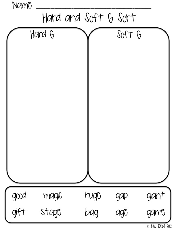 Polka Dot Firsties Hard Soft C G – Hard and Soft C Worksheets