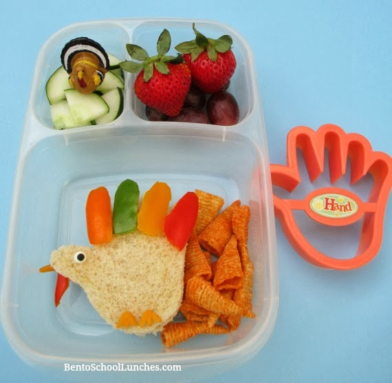 Thanksgiving Turkey bento school lunches