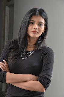 Hebah Patel Skin Tight Black Top and Leggings Ultimate Beauty Stunning Pics