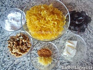 Paste cu nuci si prune uscate ingrediente reteta