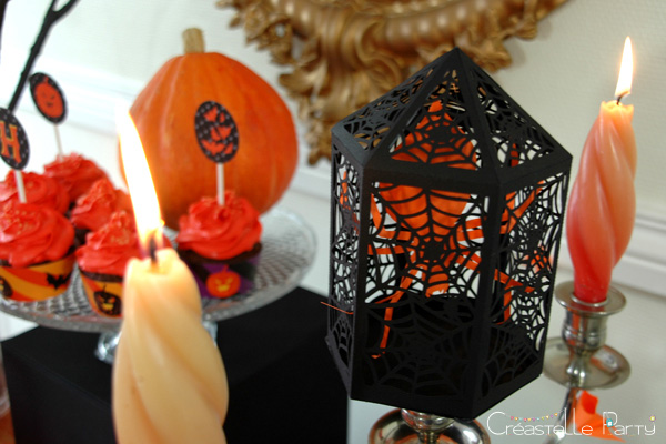 halloween sweet table - cage - araignée - spider