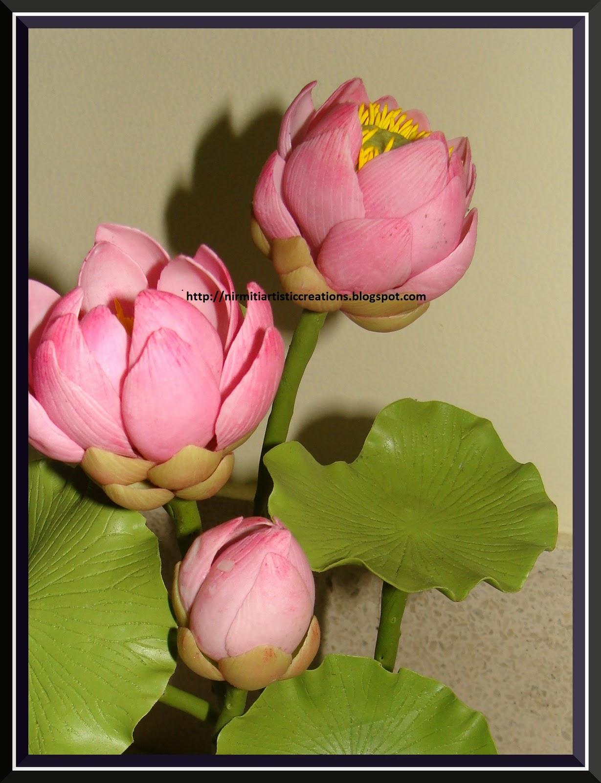 Kraftmandi thai clay lotus flower today i am sharing thai clay lotus flowerthe national flower of our country lotus izmirmasajfo