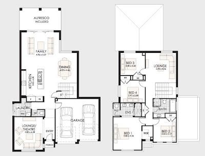 plano de casa de dos pisos pequea