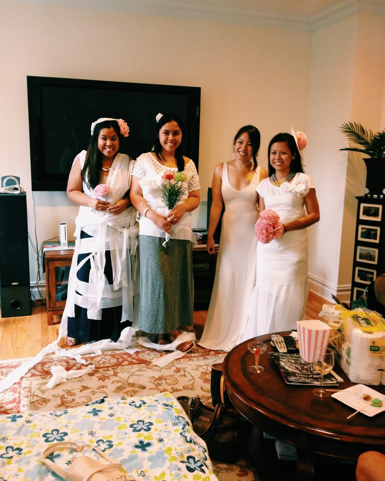 Toilet Paper Wedding Dress Game: Bridal Shower