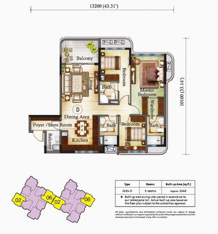 Country Garden Danga Bay condo 碧桂园,金海湾,马来西亚 Unit MixCountry Garden Danga Bay condo 碧桂园,金海湾,马来西亚 Floorplan