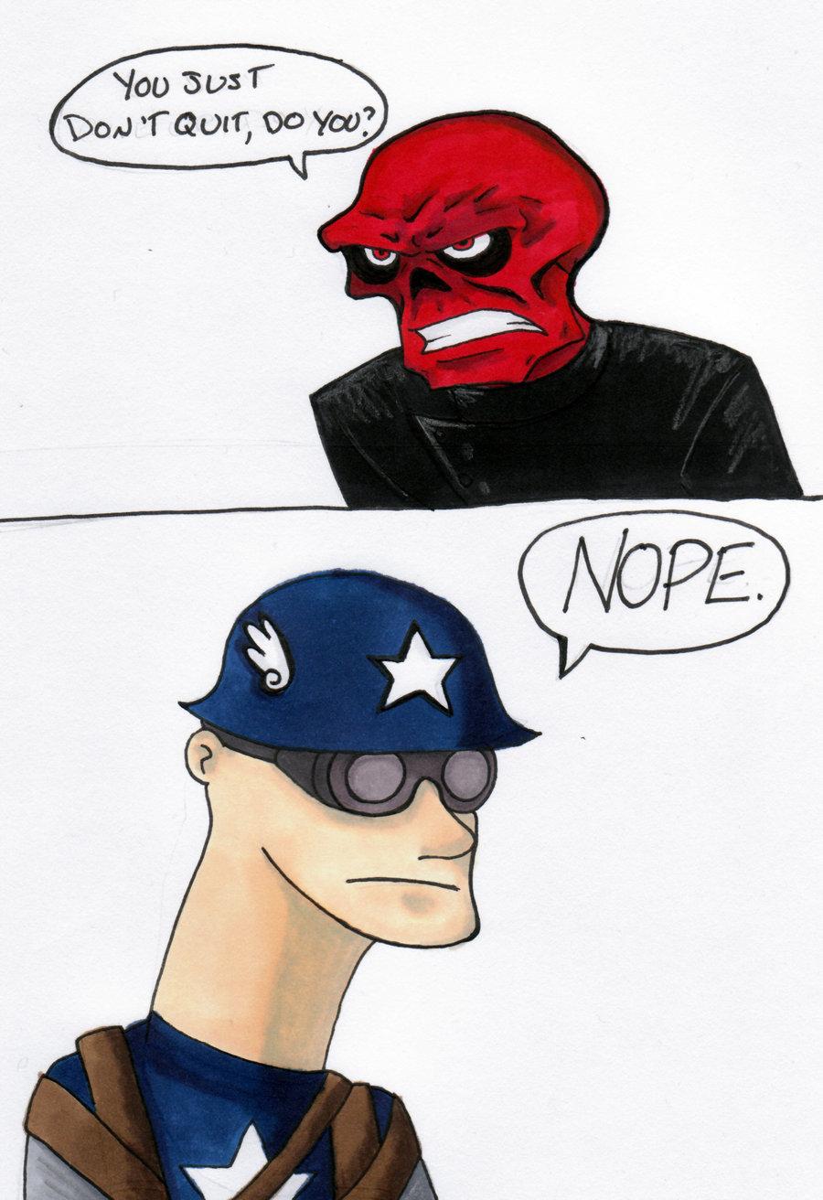 Captain America in a Nutshell por thedarklordkeisha